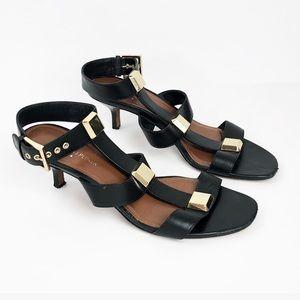 Donald J Pliner Strappy gold Hardwear Sandal Heels
